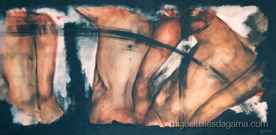 Arremessos, 1990 - Sem título, Acrílico sobre tela (70 x 120 cm)