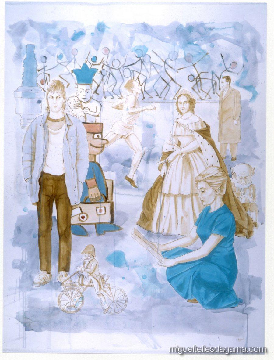 Os Novos Comparsas, 2000 - Sem título, Acrílico sobre papel (150 x 120 cm)