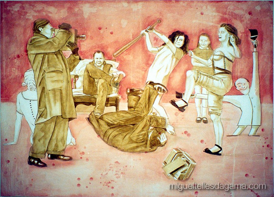 Domestic Violence - Take 2, Acrílico sobre tela (135 x 177 cm)