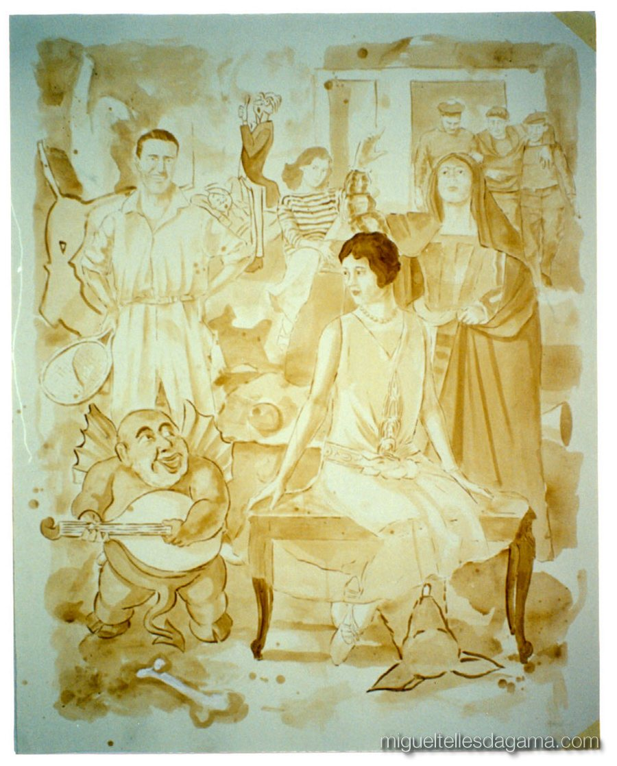 Galeria 111, Lisboa, 2001 - Sem título, Acrílico sobre papel (150 x 120 cm)