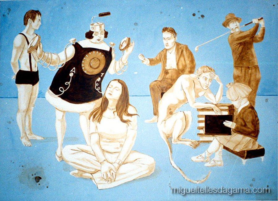 Galeria 111, Lisboa, 2001 - Alta Tensão, Acrílico sobre tela (135 x 177 cm)