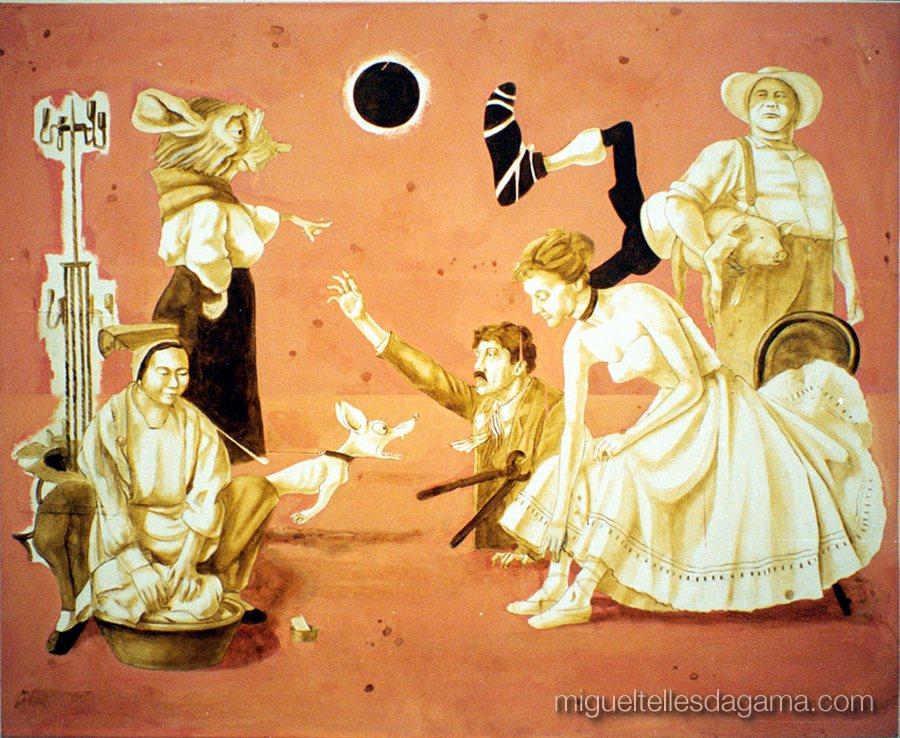 Galeria 111, Lisboa, 2001 - Raus, Acrílico sobre tela (135 x 177 cm)