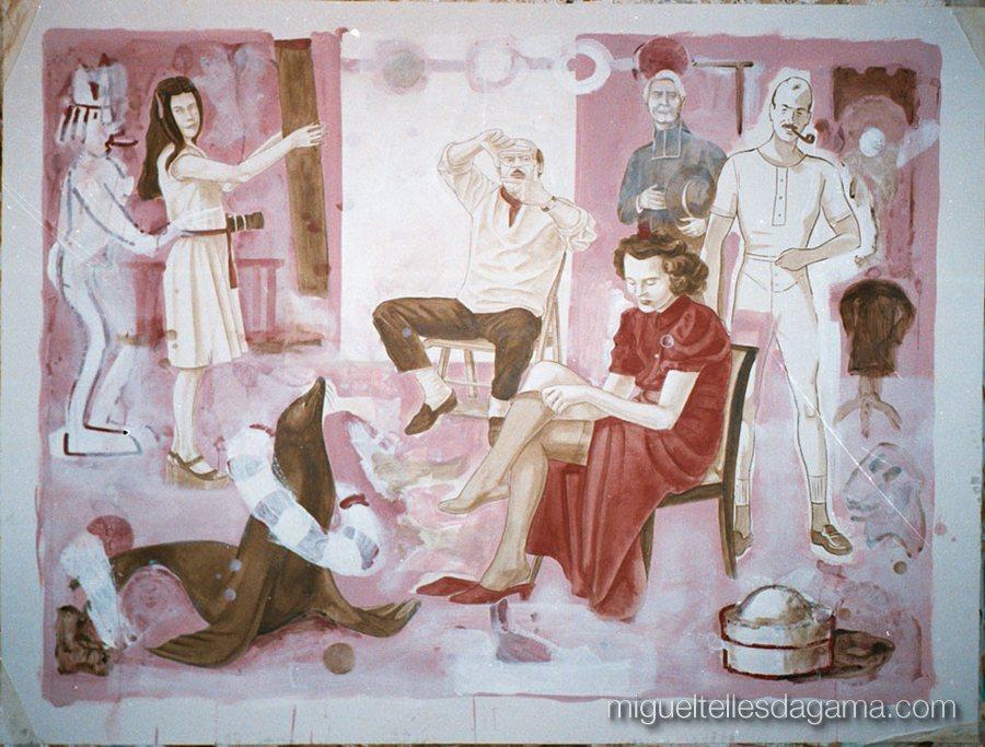 Galeria 111, Porto, 2002 - Casting, Acrílico sobre papel (120 x 150 cm)