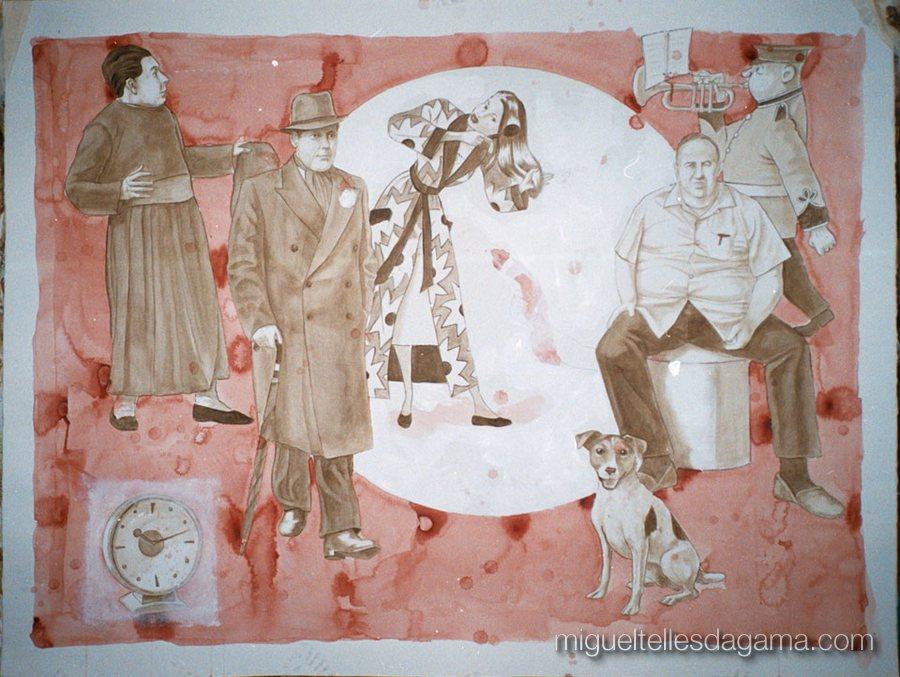 Galeria 111, Porto, 2002 - After Ten, Acrílico sobre papel (120 x 150 cm)