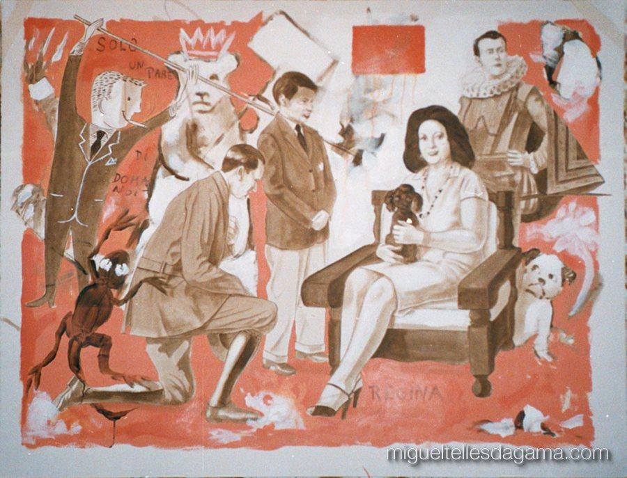 Solo un Paio di Domande, Acrílico sobre papel (120 x 150 cm)