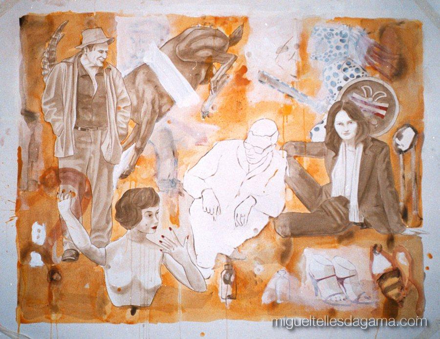 Galeria 111, Porto, 2002 - Sem título, Acrílico sobre papel (120 x 150 cm)