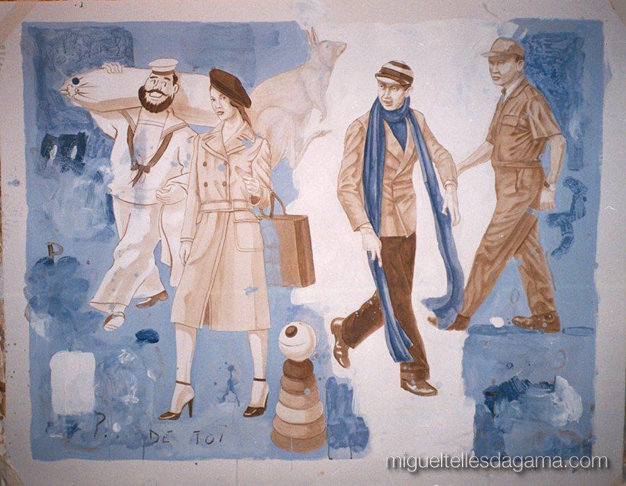 Galeria 111, Porto, 2002 - P. de Toi, Acrílico sobre papel (120 x 150 cm)