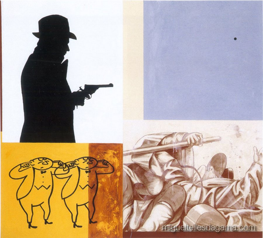 F.C.C., 2003 - Two Shots, Técnica mista sobre tela (150 x 165 cm)