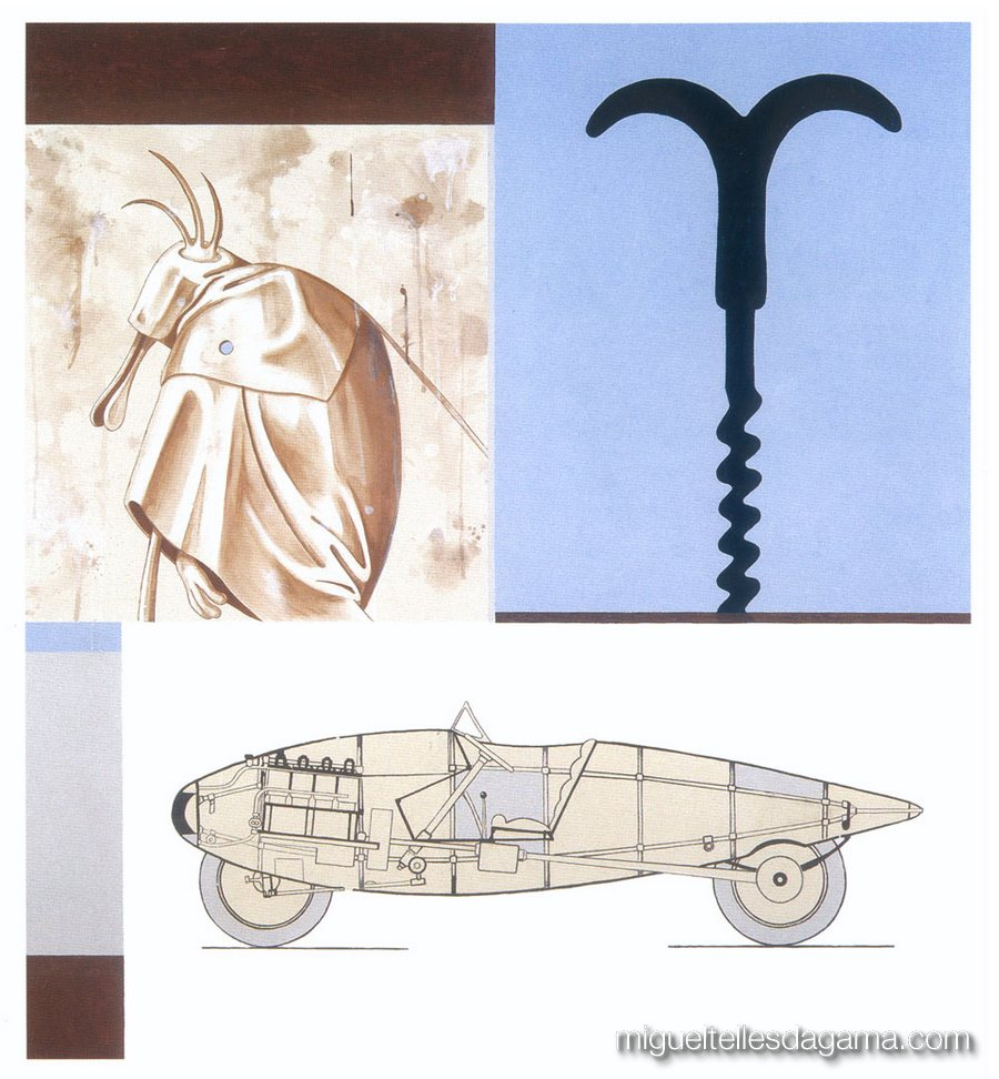 F.C.C., 2003 - Sem título, Técnica mista sobre tela (160 x 150 cm)