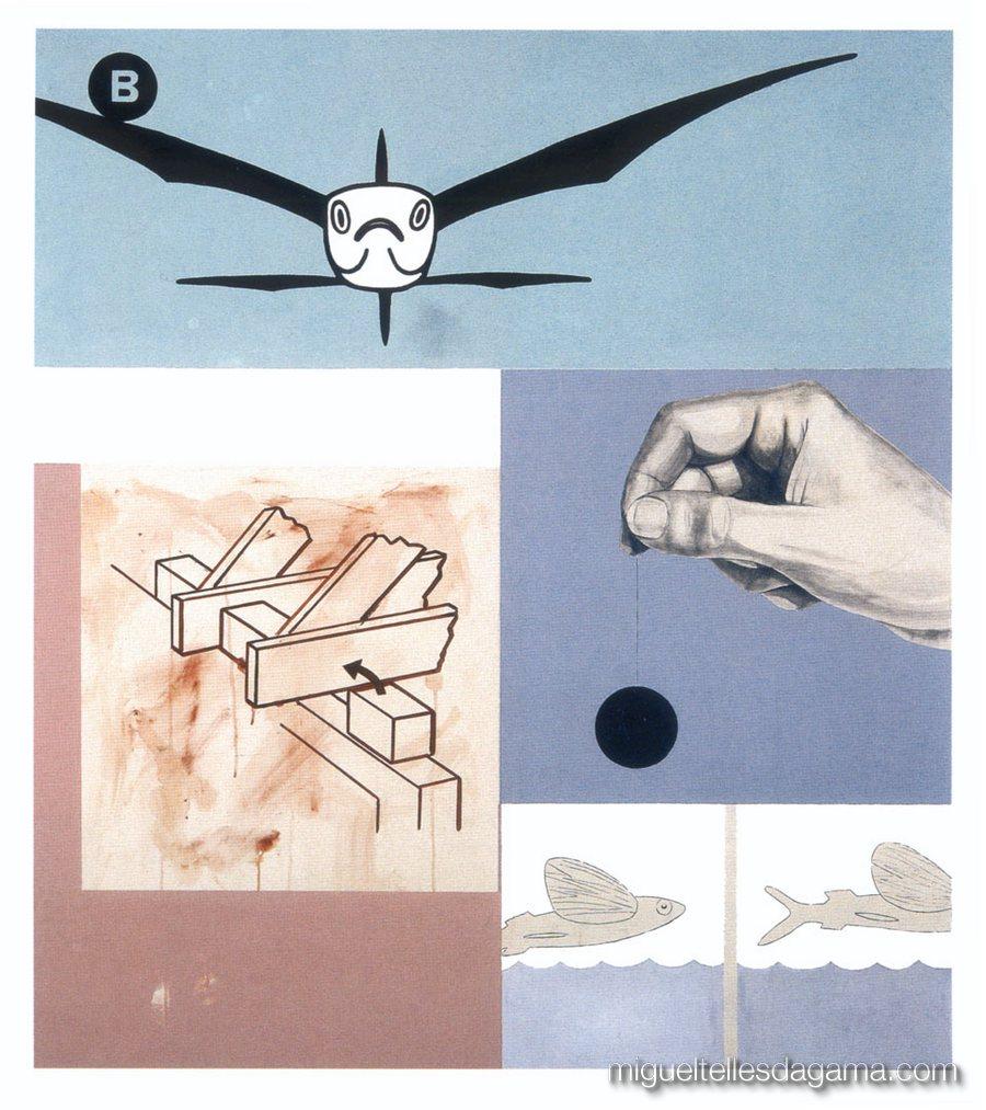 F.C.C., 2003 - sem título, Técnica mista sobre tela (160 x 140 cm)