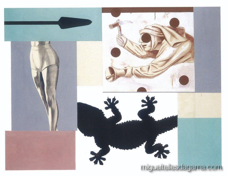 F.C.C., 2003 - Sem título, Técnica mista sobre tela (152 x 202 cm)