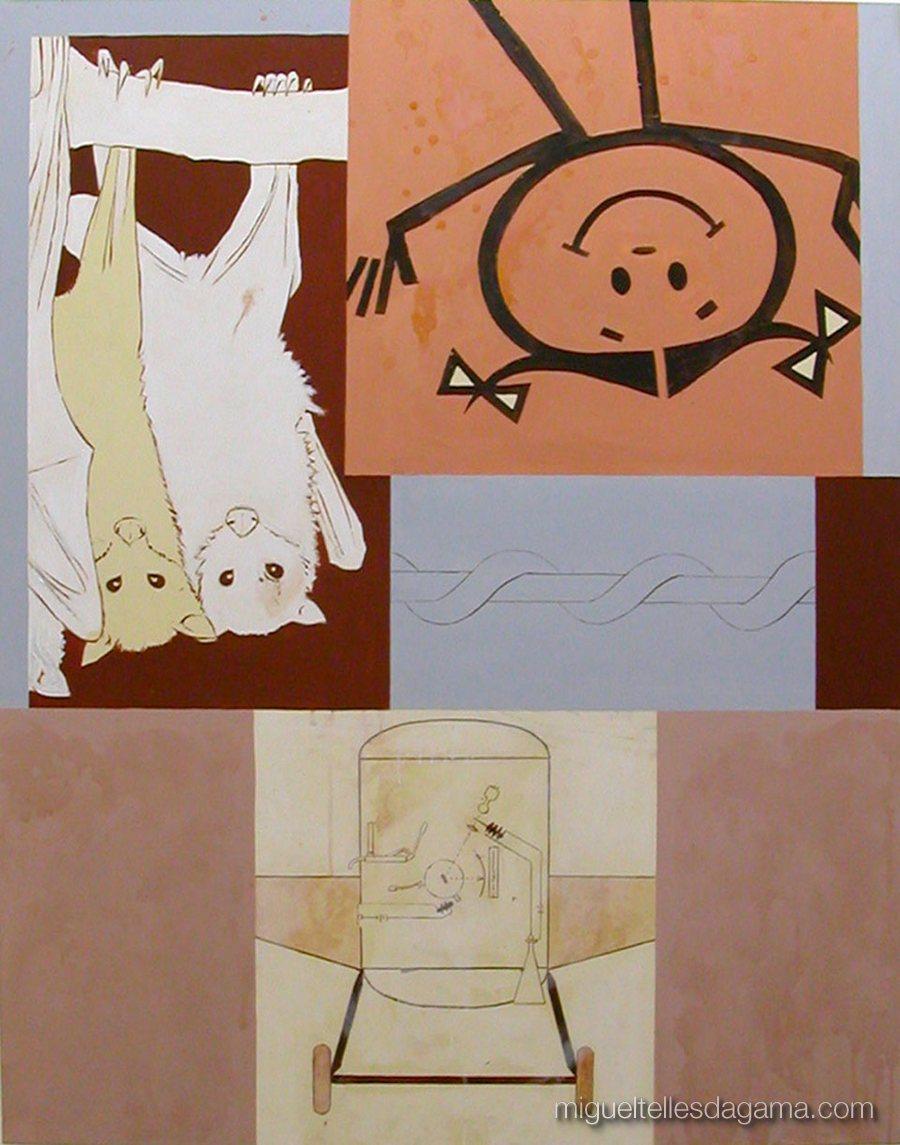 F.C.C., 2003 - Sem título, Técnica mista sobre tela (145 x 113 cm)