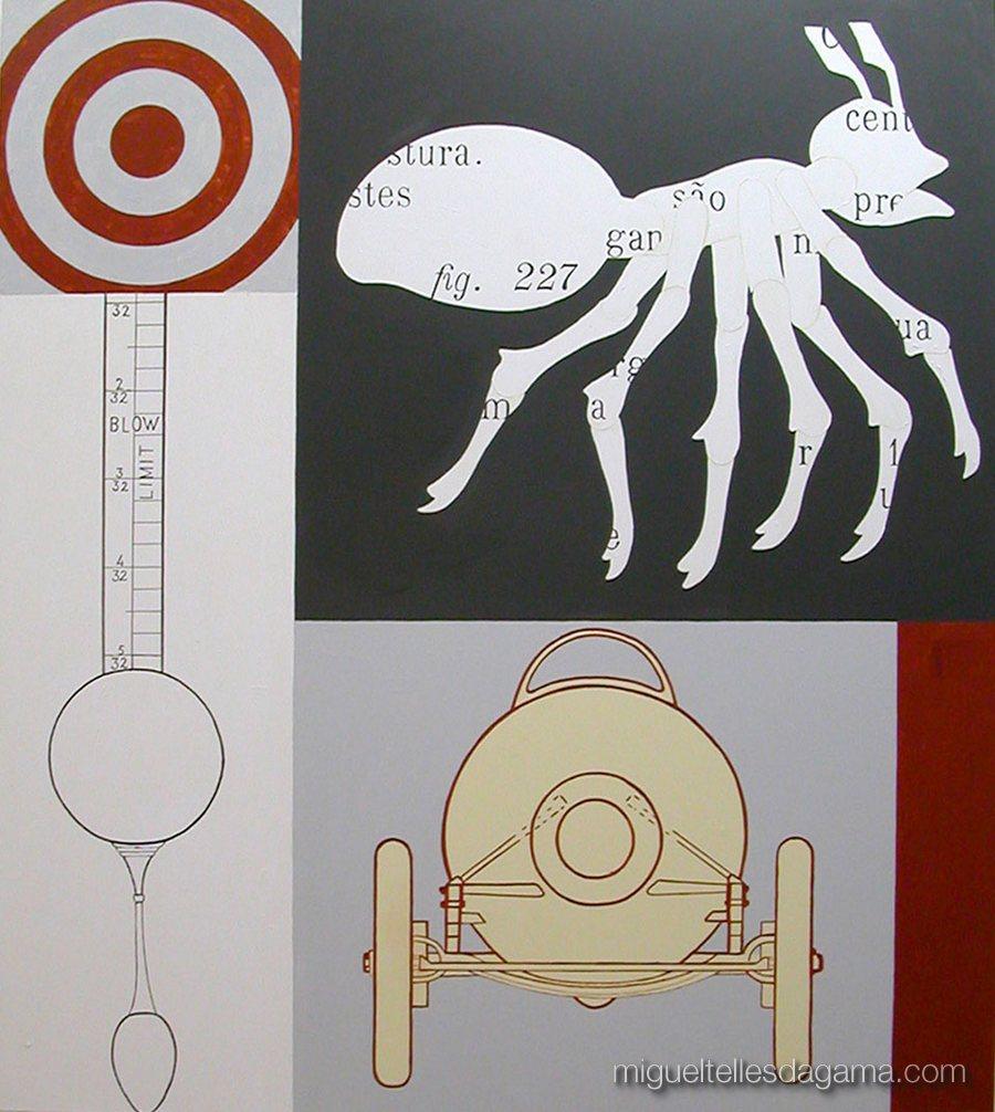 F.C.C., 2003 - Sem título, Técnica mista sobre tela (114 x 113 cm)