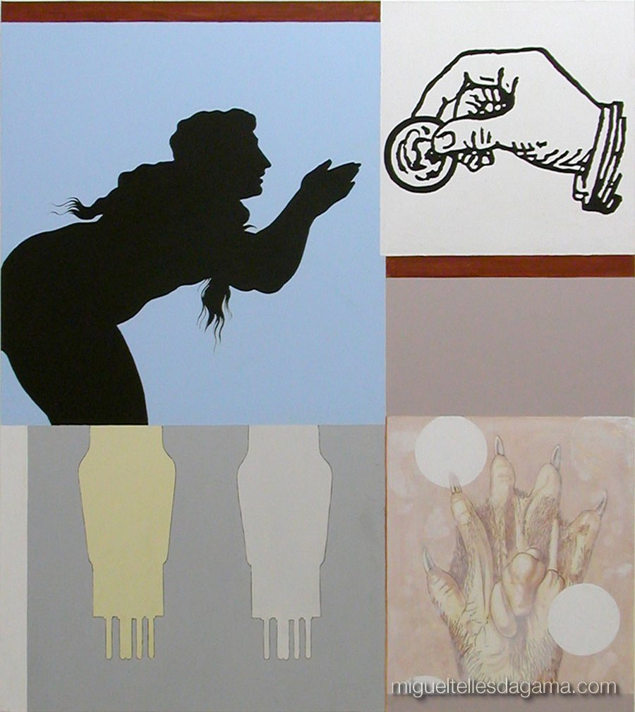 F.C.C., 2003 - O Abono, Técnica mista sobre tela (140 x 125 cm)