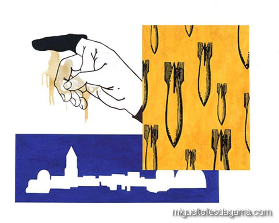 If I Was A Blind Man, 2004 - Yellow Cab, Acrílico sobre papel (120 x 150 cm)