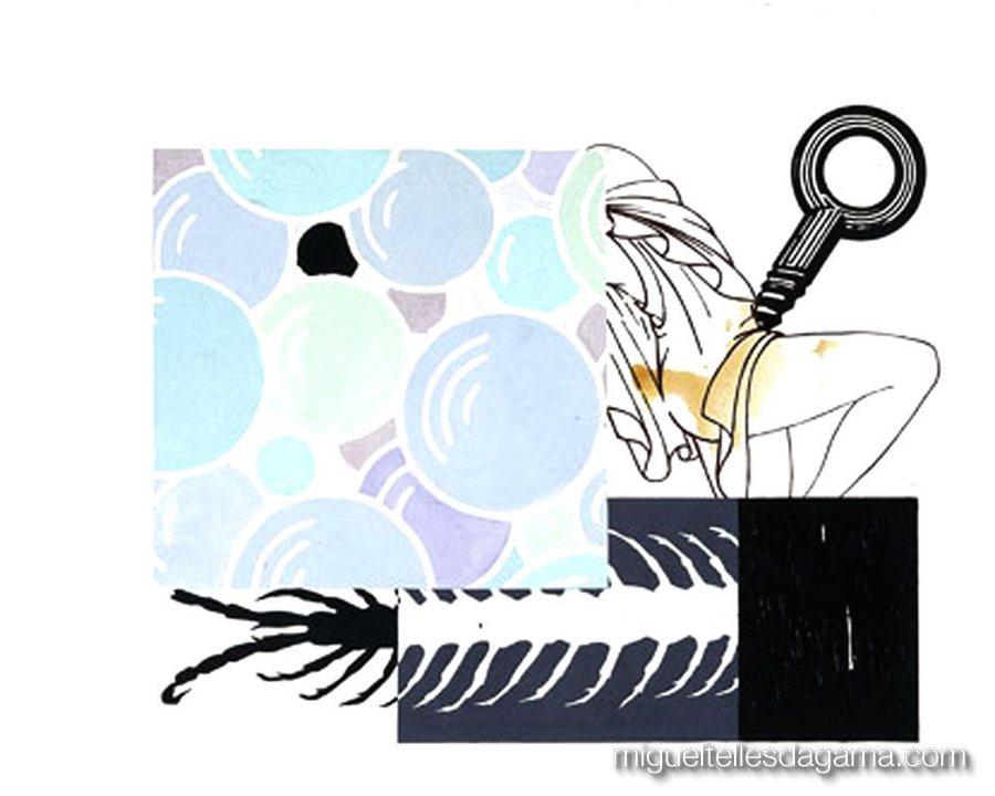 If I Was A Blind Man, 2004 - �?xtase, Acrílico sobre papel (120 x 150 cm)