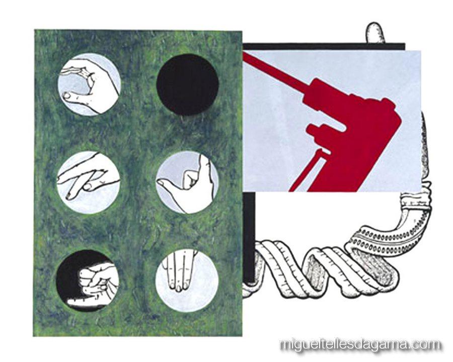 If I Was A Blind Man, 2004 - Free Hands, Acrílico sobre papel (120 x 150 cm)