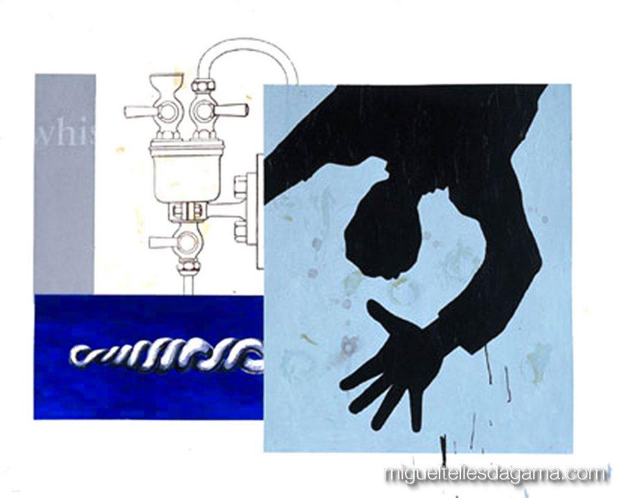 If I Was A Blind Man, 2004 - Sem título, Acrílico sobre papel (120 x 150 cm)