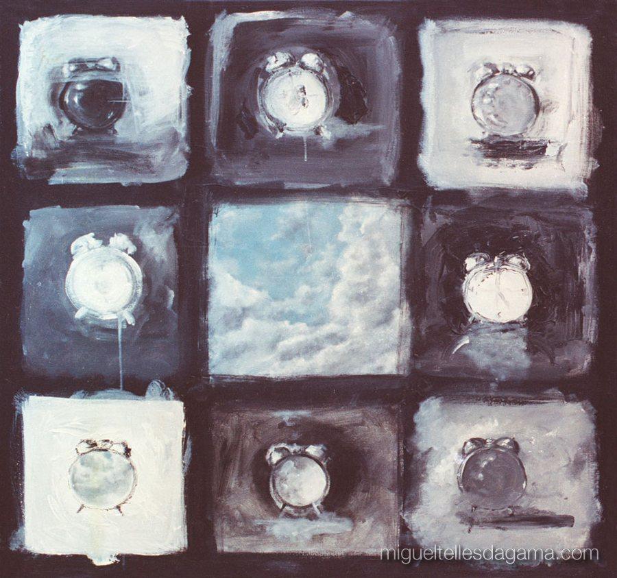 Dar Tempo ao Tempo, 1990 - Sem título, Acrílico sobre tela (100 x 100 cm)