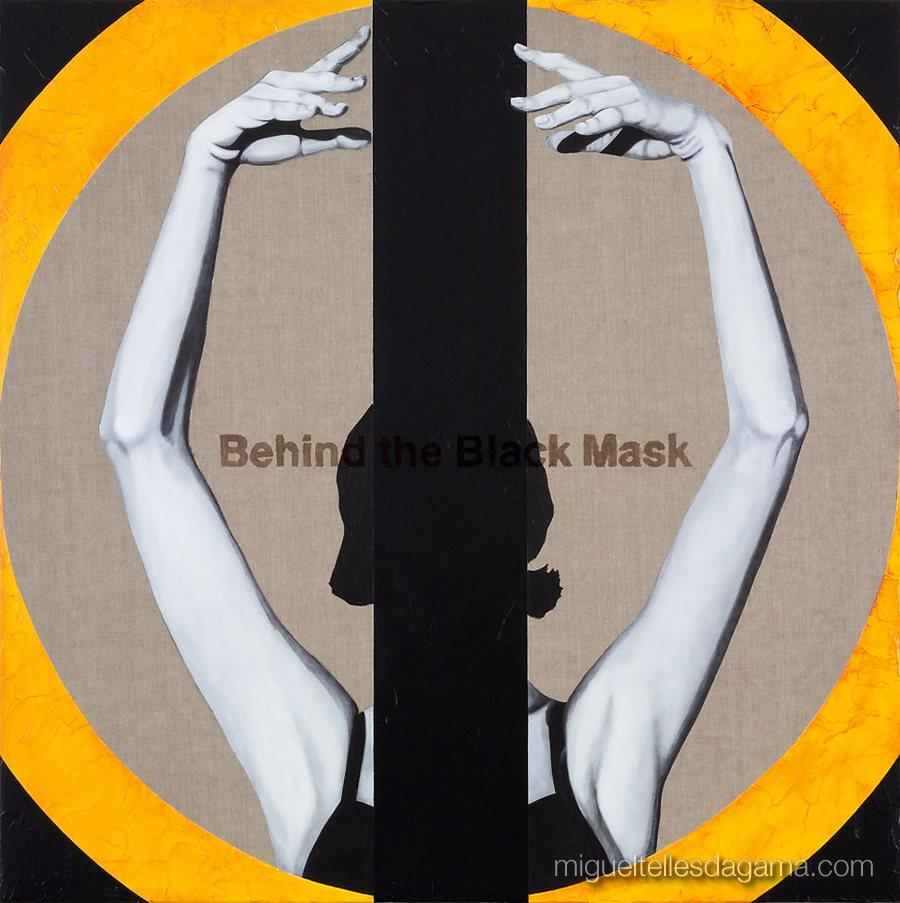 E.R. 2007 - Behind the Black Mask, Acírilico e verniz sobre tela (100 x 100 cm)