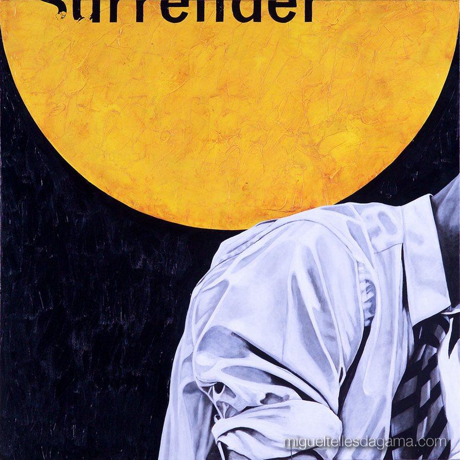 E.R. 2007 - Surrender, Acírilico e verniz sobre tela (100 x 100 cm)
