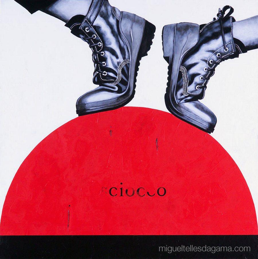 E.R. 2007 - Sciocco, Acírilico e verniz sobre tela (100 x 100 cm)