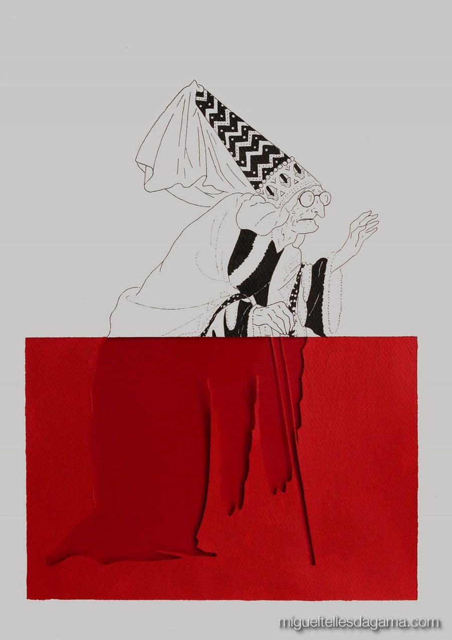 Passing Through The Red, 2013 - Sem título, Técnica mista sobre papel ()