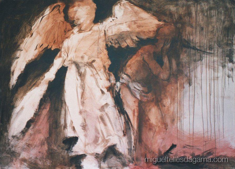 Intervenções Angelicais, 1993 - Sem título, Técnica mista sobre tela (145 x