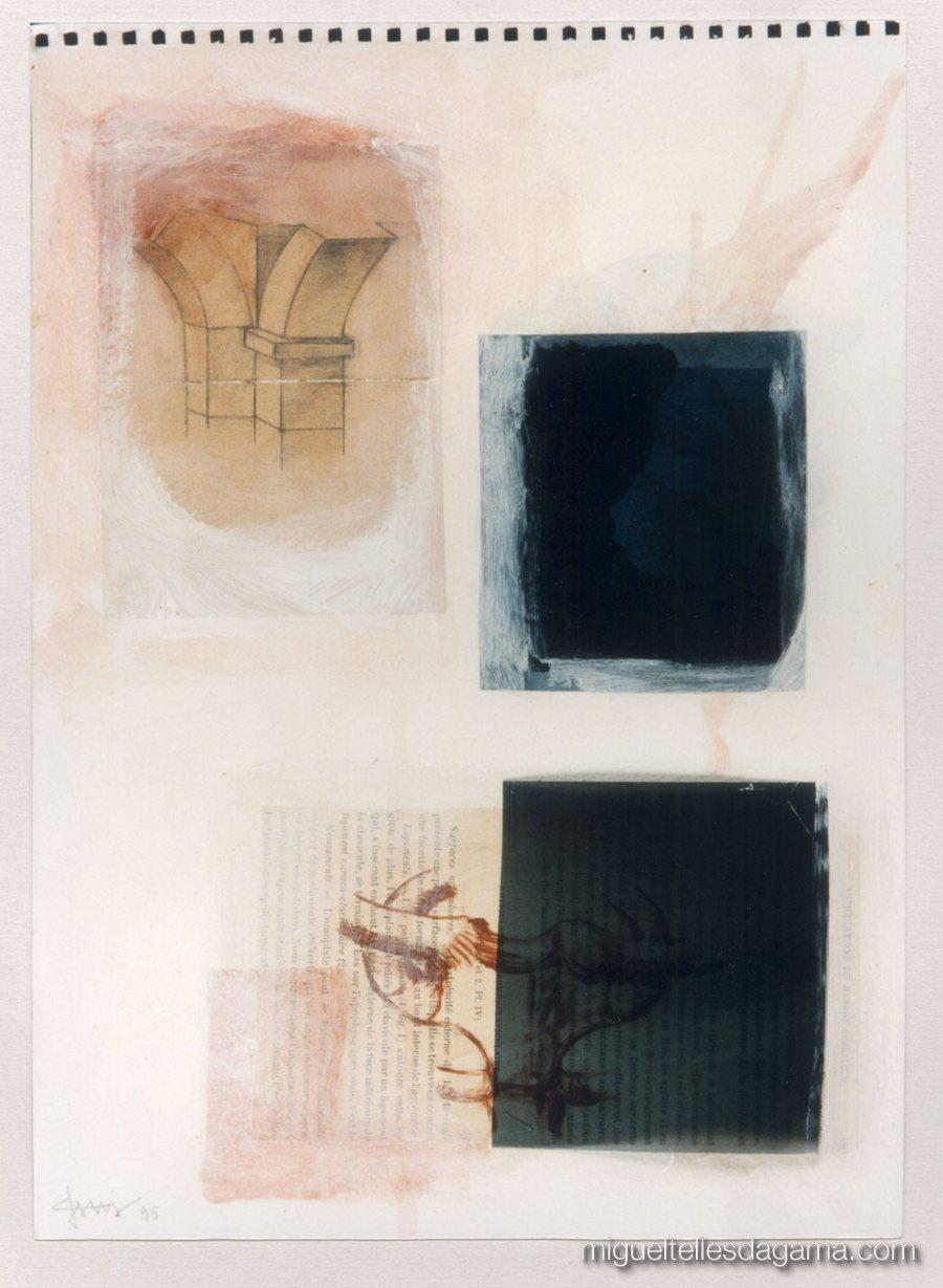 Experiências a Raio X, 1995  - Sem título, Técnica mista sobre papel (35 x 25