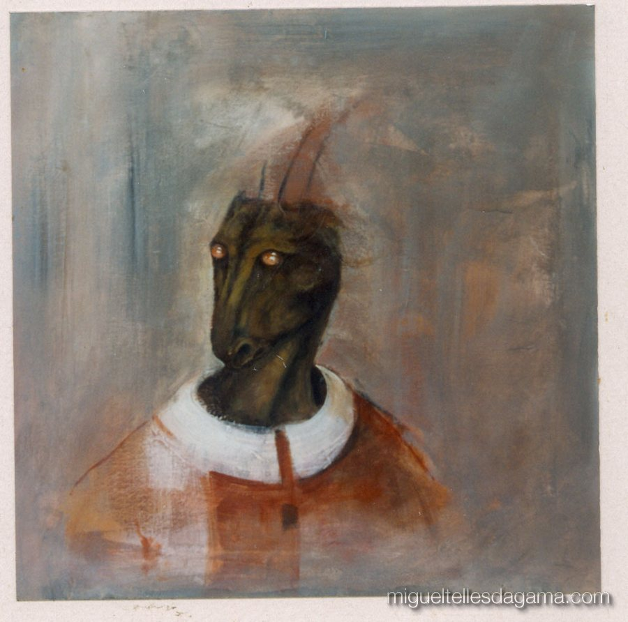 1995 - A Cabra Episcopal, Acrílico sobre tela (50 x 50 cm)