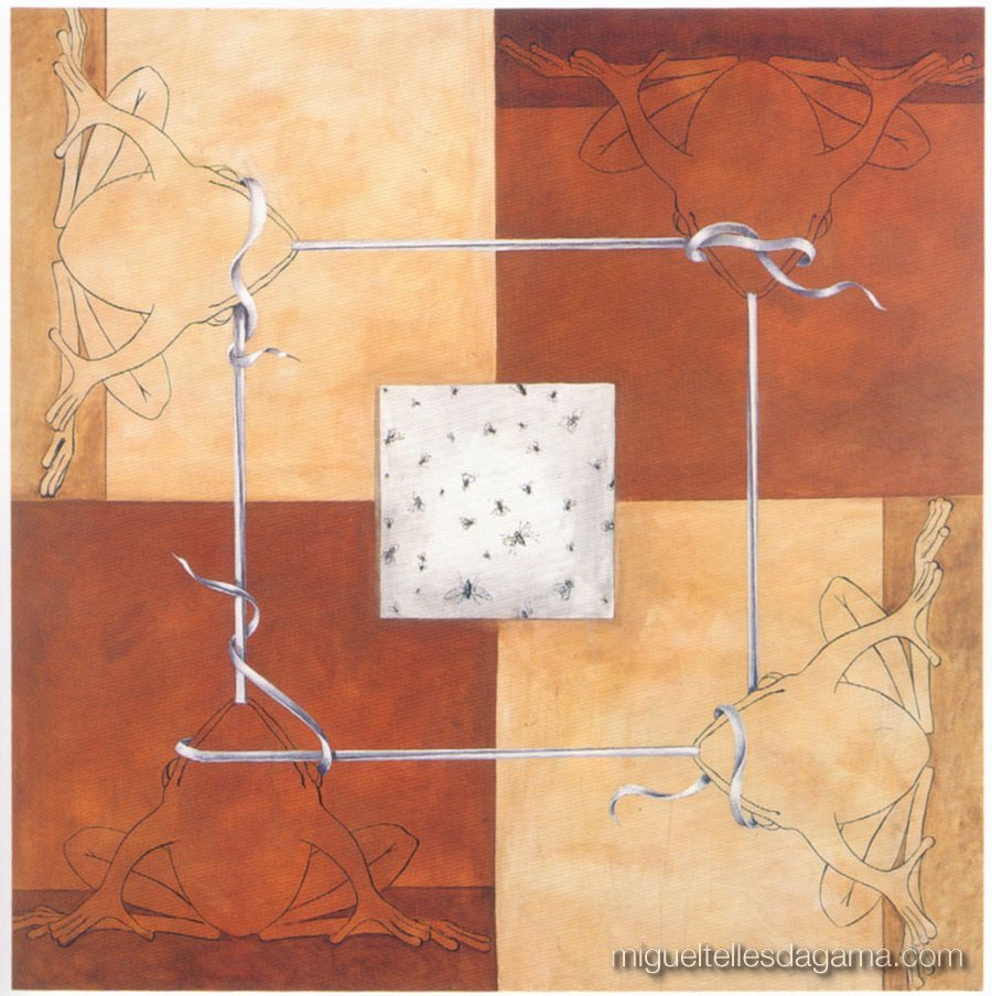 Galeria 111, 1997 - Sem título, Acrílico sobre tela (200 x 200 cm)