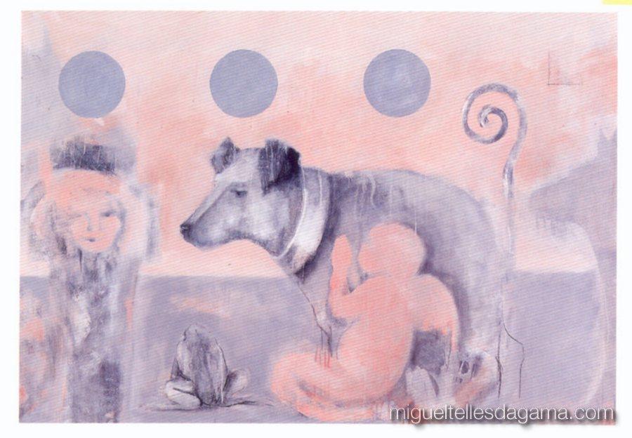 1997 - O Céu dos Cães também é cor de rosa, Acrílico sobre tela (123 x 177