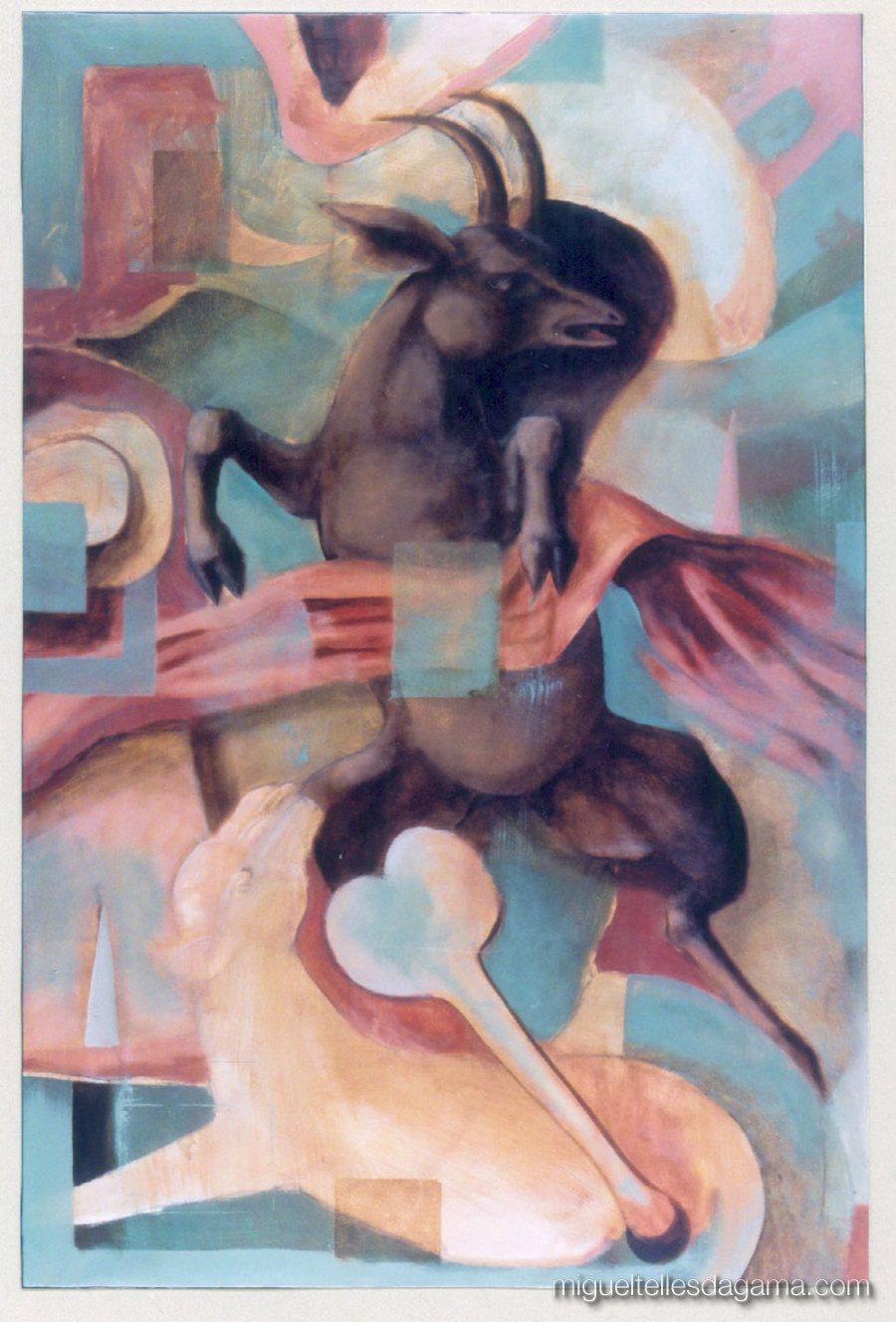Galeria 111, Porto, 1998 - Cabra Cega, Acrílico sobre tela (cm)